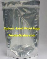 100 Bulk Smell Proof Bag Clear Front and Foil Back Ziplock 1 Kilogram