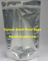 Smell Proof Bag Clear Front and Foil Back Ziplock 1 Kilogram